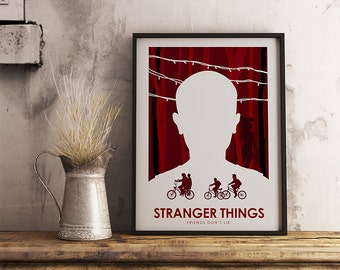 Stranger Things Poster Art Print, TV Poster, Wall Art