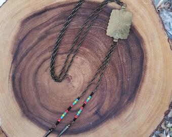Bolo-Style Concho Necklace