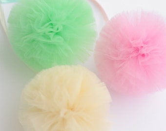 "Small tulle pom poms balls 5""/13 cm  - custom colors - Wedding /Party Decoration /Tutu /baby shower"