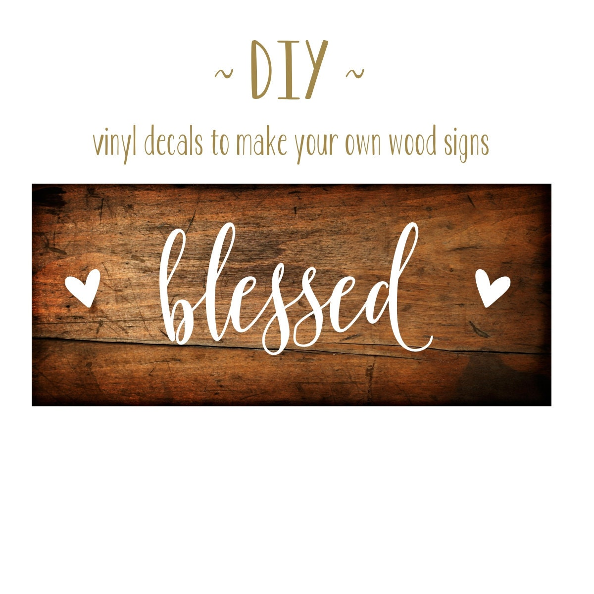 Grateful thankful blessed sign give thanks vinyl decal diy wood