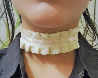 Ivory Gothic Lolita Victorian Ribbon Choker