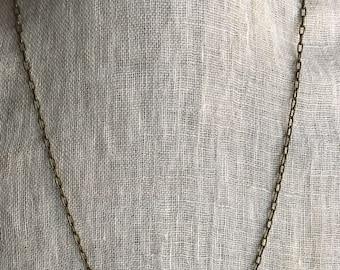 Delicate antique brass necklace