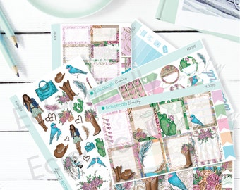 Country Glam Sticker KIT   Planner Stickers   Country Girl Stickers for Erin Condren Life Planner   K009 KIT
