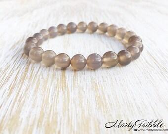 Agate Bracelet, Gemstone Bracelet, Neutral Bracelet, Boho Bracelet, Gemstone Jewelry, Earthy Bracelet, Boho Jewelry, Healing Crystal Jewelry