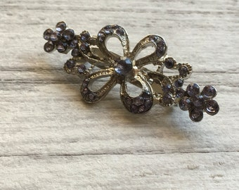 Purple flower vintage brooch - costume jewelry - gifts for her etsy uk