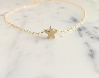 Tiny Gold Star Necklace | Star Necklace | Star Pendant Charm | Birthday Gift | Gift For Her | Everyday Necklace | Gold Necklace