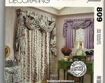 Bathroom Essentials / Original McCall's Home Decorating Uncut Sewing Pattern 809