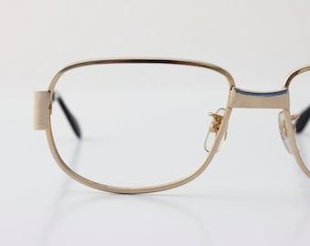Vintage 70's Brushed Gold Eyeglasses Frames