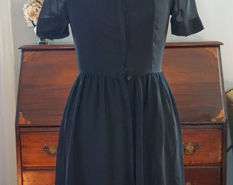 Vintage Black Sheer Dress, Mini, Vintage 90's Dress, Short Dress, Black Dress, Grunge Dress, Beaded Vintage, Small Black Dress, 90's LBD