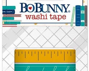 Shop Closing Sale! Set of Two Bo Bunny Pop Quiz Alphabet Washi Tape Set