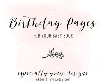 Birthday Pages Pack