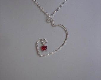 Upcycled Awkward Heart Pendant Necklace, For The Beautiful Introvert, Be Awkward, Valentines Day
