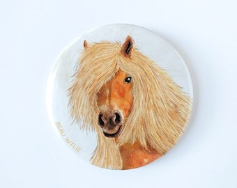 Horse - Badge with pin-back
