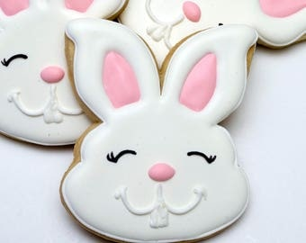 Decorated Cookies - Easter - Rabbits - Easter Bunnies - 1 DOZEN