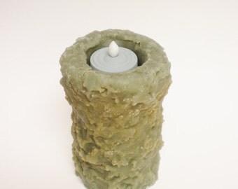 Primitive Timer Pillar Candle, Decorative Candles, Country Farmhouse Decor
