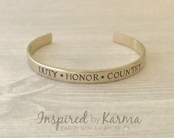 Duty, Honor, Country, West Point Bracelet,Proud West Point Mom,Personalized Cuff Bracelet,Military Jewelry,USMA Bracelet,personalized gifts