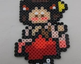 Hetalia Perler Bead Art - female Japan - Prototype Sale