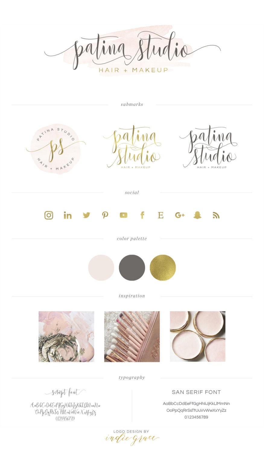 Watercolor Caligraphy Style Logo Design