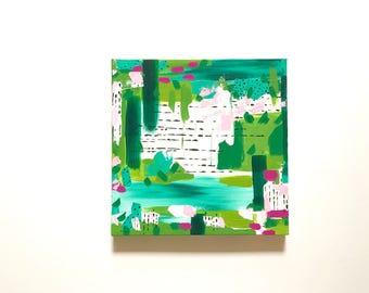 12 x 12 Original Painting in Acrylics on Canvas / Modern Art / Abstract Art / Wall Art / Wall Decor / Nursery wall decor / Kids room decor
