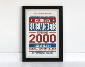 Columbus  Blue Jackets - Screen Printed Poster