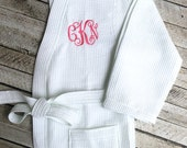 Monogrammed Waffle Robe, Bridesmaid Gifts, Monogrammed Robe, Personalized Bridesmaids Gifts, Bridesmaid Robe, Kimono Robe, Monogrammed Gifts