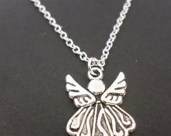 """Angel  necklace, 18"""" with Tibetan silver angel charm"""