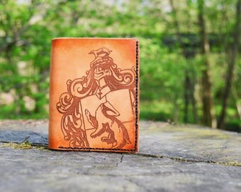 Hufflepuff Leather Wallet, handmade, Harry Potter