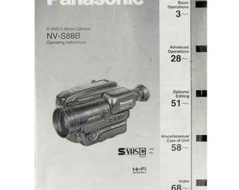 panasonic mini dv camcorder manual