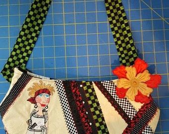 Loralie Designs Salon Handbag, Ladies Handbag, Womens Purse, Loralie Designs Salon Purse, Handbag, Handmade Handbag, Embroidery Handbag