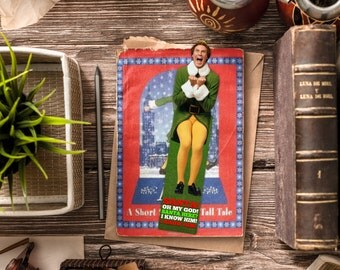 Buddy the Elf Bookmark / Elf Christmas Movie Bookmarks / Will Ferrell / Funny bookmark / Handmade / Christmas / I just like to smile / Santa