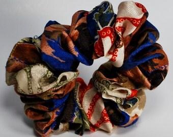 Silk Kimono   Flower  Scrunchie