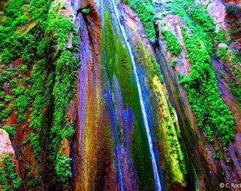 Nojoqui Falls by Catherine Roché, California Landscape Photography, Waterfall Photography, Nature Photography, Santa Barbara, Fine Art