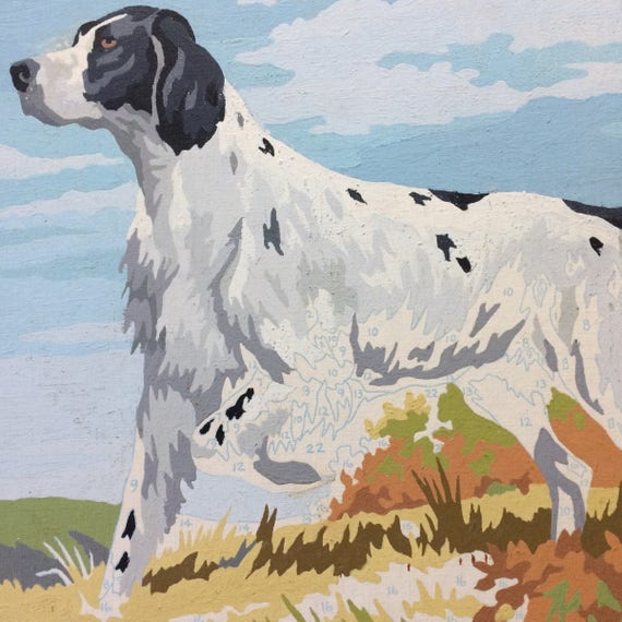 Dog Paint By Number Vintage English Setter Unfinished