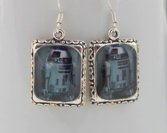 Artodito Star Wars Earrings Jewelry Head Face Silver 3D Dimensional Picture Earrings Robot Arto-Dito