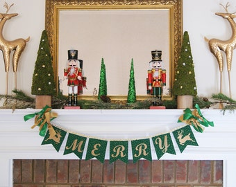 MERRY CHRISTMAS BANNER / Christmas decorations / Christmas banner / Christmas garland / Christmas mantle. Merry Christmas / Christmas gift