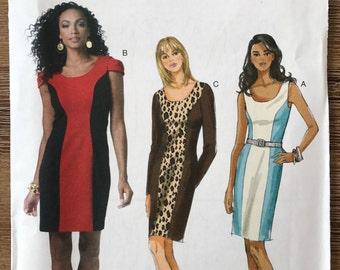 UNCUT Misses' Dress Sewing Pattern Butterick 5554 Size 16-18-20-22 Shift Dress, Casual Dress, Easy Dress, Work Dress, Party Dress