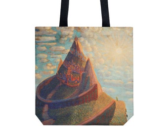 Tote bag - Shopping bag - Shopping tote - Martket bag - Handbag - Shoulder bag - Mikalojus Konstantinas Ciurlionis - Ciurlionis art
