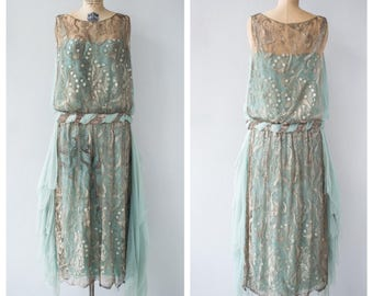 Vintage drop waist dress 1920s – Etsy