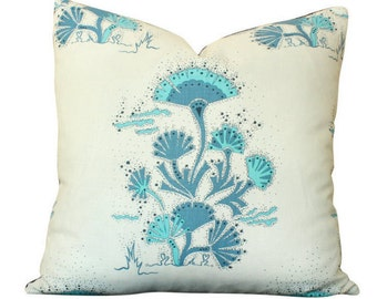 Katie Ridder Seaweed Pillow Cover in Blue Cobalt