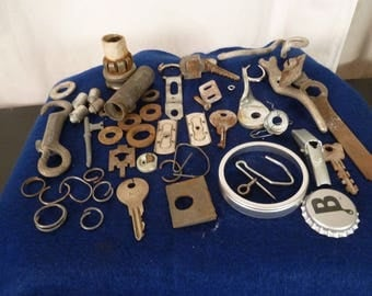 Scrap Metal 52  Hardware Pieces Steampunk Supply Mixed Media Altered Art