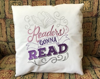 Readers Gonna Read Pillow | The Book Lovers Collection