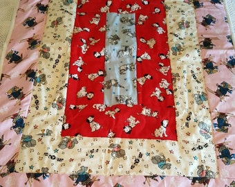 Baby Quilt - 2-sided flannel quilt  - very soft