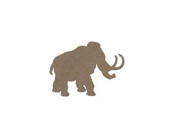 Woolly Mammoth Die Cut, Dinosaur Die Cut, Dinosaur Birthday Party, Dinosaurs, Embellishment, Cupcake Topper, Wooly Mammoth, Jurassic