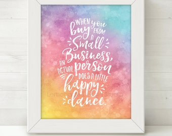 Printable Happy Dance Quote, Small Business Sign, Office Art, Entrepreneur Printable Quote, Inspirational Quote Wall Direct Sales Consultant
