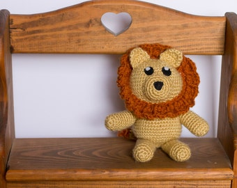 Lion Stuffed Animal - Lion Plush - Crochet Lion