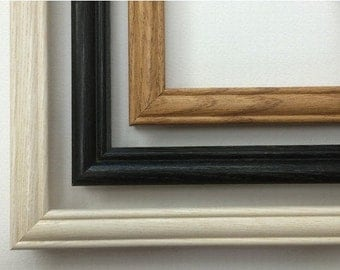 Wood Picture Frame, Oak Picture Frame, Black Picture Frame, White Picture Frame, Whitewashed Picture Frame, Wall Decor
