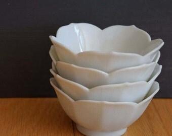 vintage lotus flower bowls