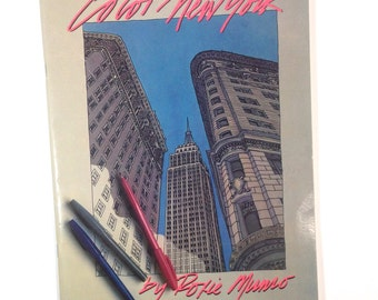 Color New York, New York City Coloring Book, Adult Coloring Book, Kids, Architecture of New York City, Empire State Building