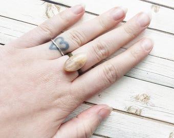 Peach Moonstone Adjustable Ring | Moonstone Ring | Moonstone Jewellery | Peach Moonstone | Crystal Ring | Filigree Ring | Crystal Ring |