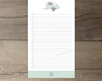 teardrop trailer printable list •  Notepad • To-Do list •adventure todo list notepad organizer • gift • printable